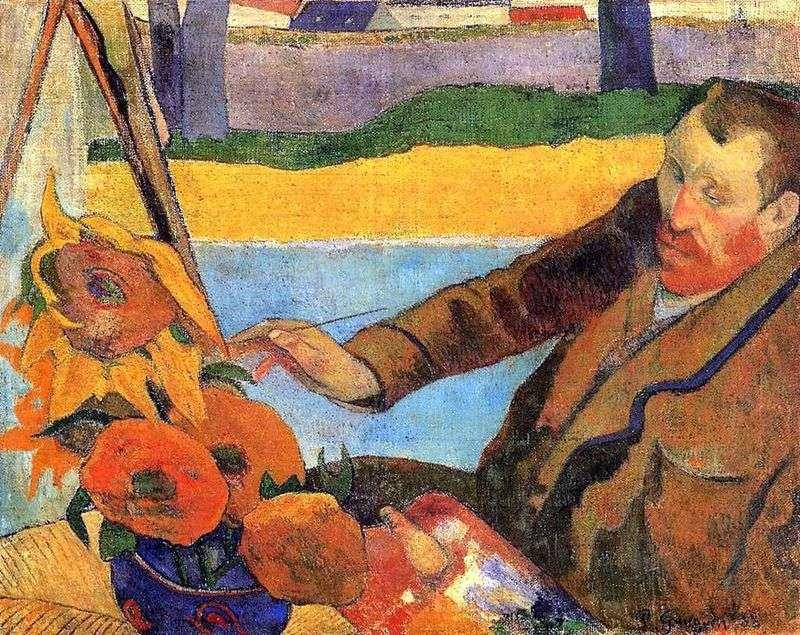Van Gogh Dipinge I Girasoli Ritratto Di Vincent Van Gogh Paul Gauguin Gauguin Paul