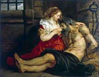 Amore romano (Cimon and Feather)   Peter Rubens