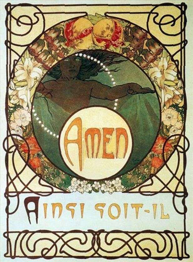 Nostro padre. A. Piazza and Co., Parigi.   Alphonse Mucha