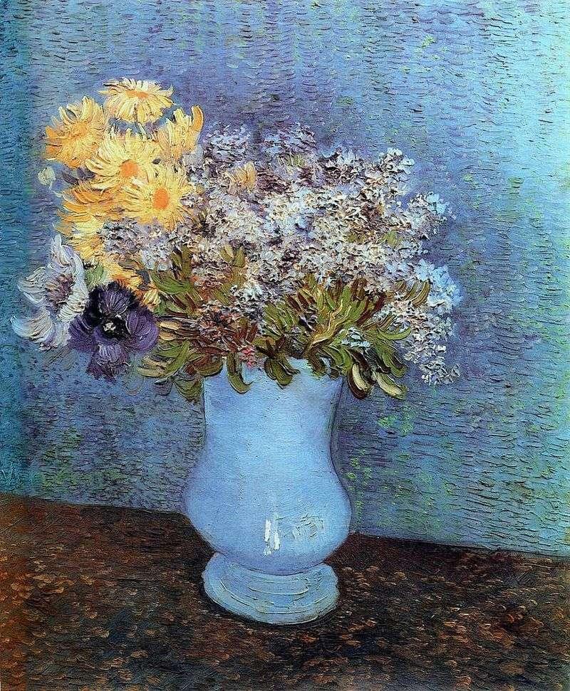 Mazzo Di Fiori Van Gogh.Vaso Con Lilla Margherite E Anemoni Vincent Van Gogh