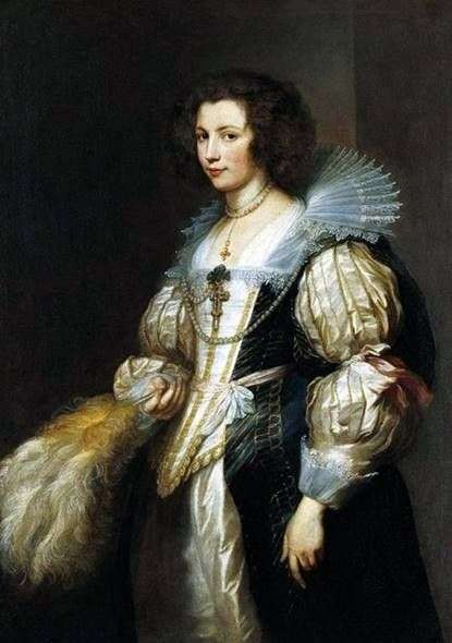 Ritratto di Maria Louise de Tassis   Anthony Van Dyck
