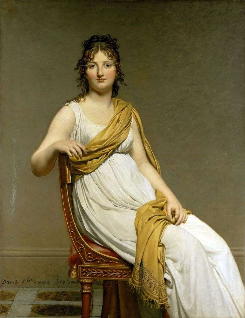 Ritratto di Madame Henriette de Vernignac   Jacques Louis David