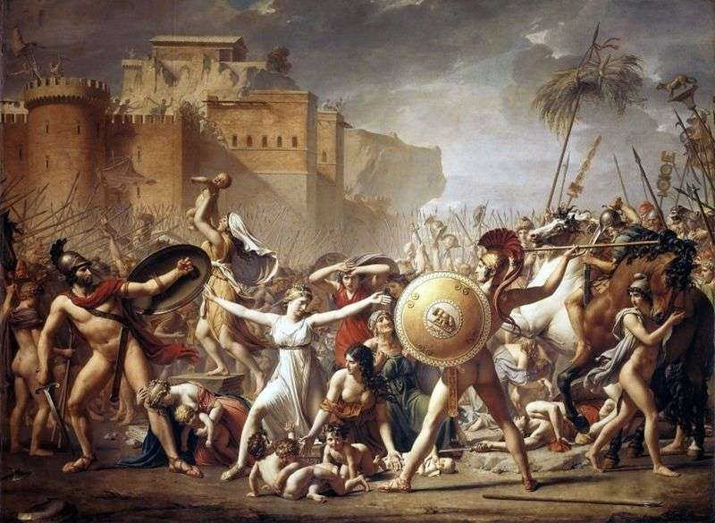 Sabinyanki, fermando la battaglia   Jacques Louis David