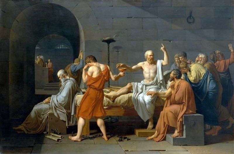 Morte di Socrate   Jacques Louis David