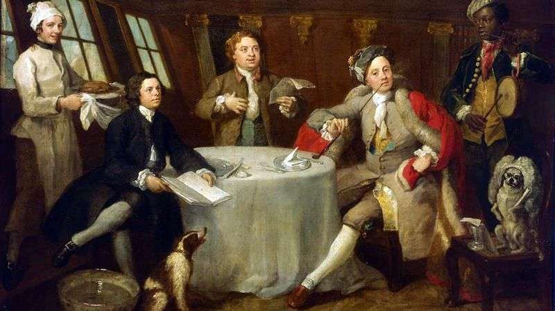 Il capitano Lord George Graham nella sua cabina   William Hogarth