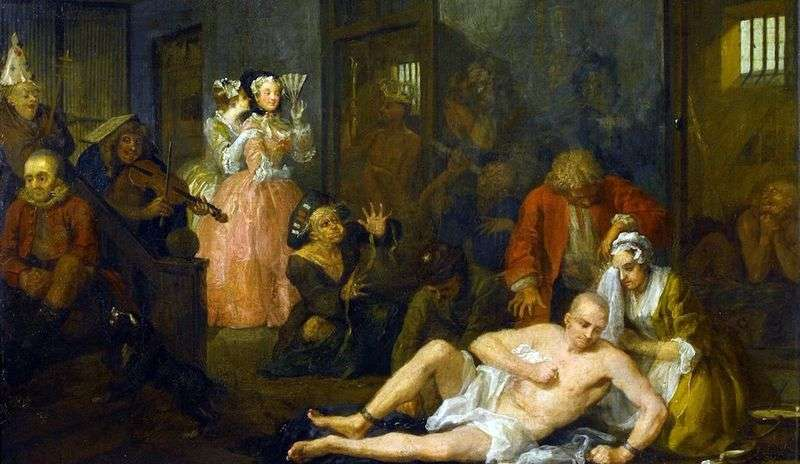 Carriera Mota. Falena a Bedlam   William Hogarth