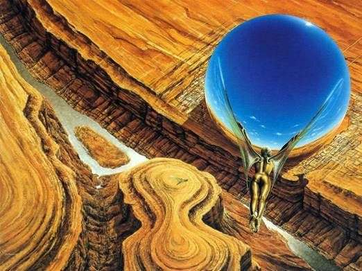 Levitator. Pittura di Jim Burns