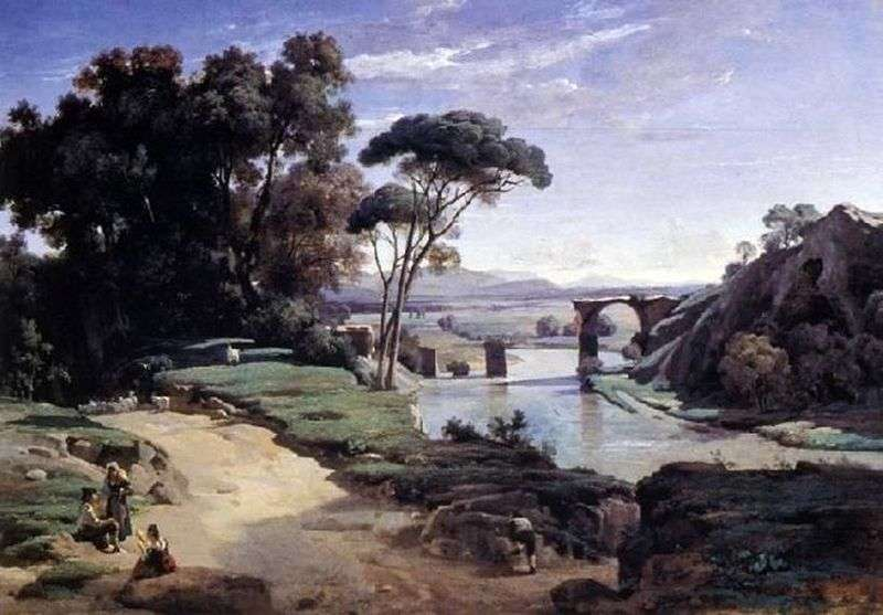 Bridge to Narni   Camille Corot