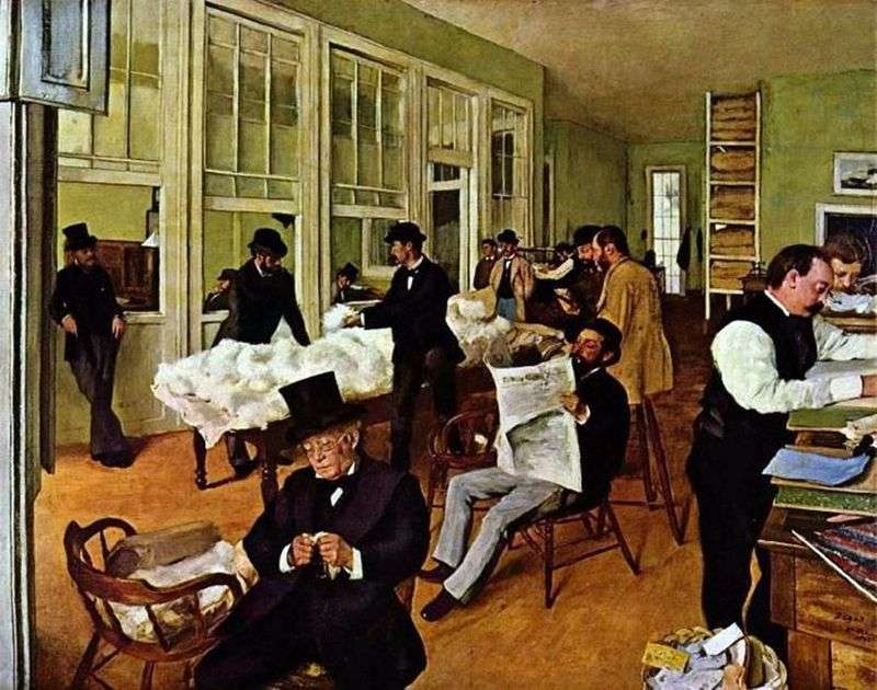 Cotton Office a New Orleans   Edgar Degas