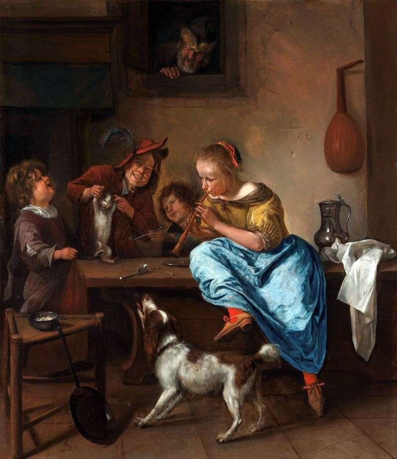 Cat Dances   Jan Steen
