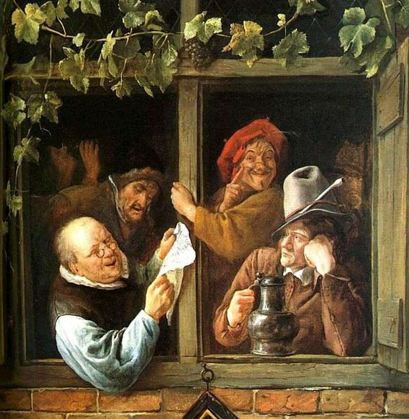 La retorica alla finestra   Jan Steen