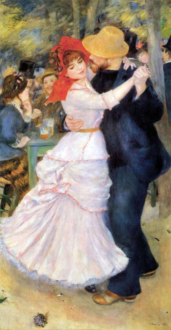 Dance in Bougival   Pierre Auguste Renoir