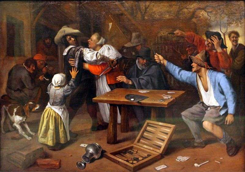 La disputa sul gioco di carte   Jan Steen