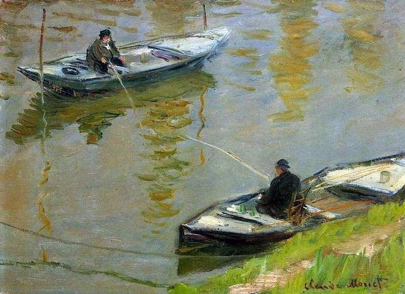 Due pescatori   Claude Monet
