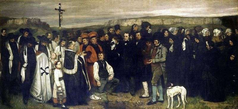 Funerale a Ornan   Gustave Courbet