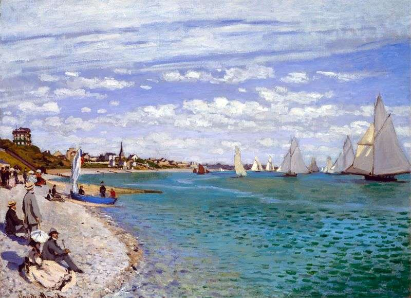 Regata a Saint Adress   Claude Monet