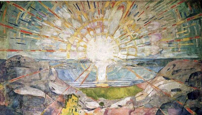The Sun   Edvard Munch